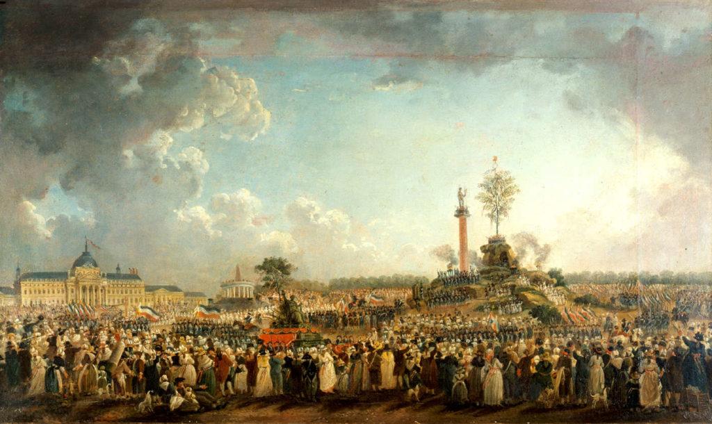 Fête de l'Être suprême, por Pierre-Antoine Demachy